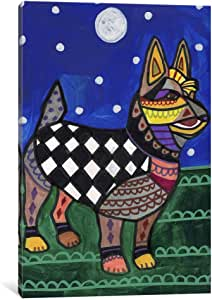 iCanvasART HGL67 Australian Terrier by Heather Galler Canvas Print, 12-Inch by 8-Inch, 0.75-Inch Deep