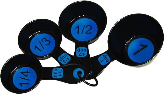 Chef Craft Measuring Cup Set, Blue/Black