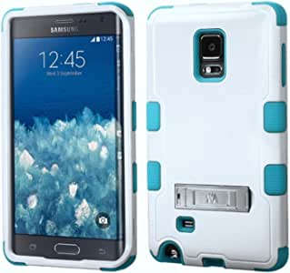 MyBat SAMSUNG N915T (Galaxy Note Edge) TUFF Hybrid Phone Protector Cover with Stand - Retail Packaging - Ivory/Teal/White