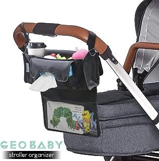 GeoBaby 附加儲物推車收納,現代通用設計,適合所有嬰兒車,迎嬰派對的想法