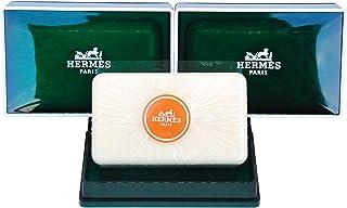 两 ( 2) 奢华 Hermes JUMBO 香皂 EAU d'orange verte 礼品香皂 from Hermes 巴黎147.4gram / 150g perfumed 香皂 / 袋泡泡 SAVON parfume