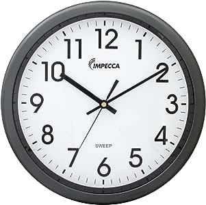 "IMPECCA Non Ticking 12"" Wall Clock (Metallic Grey)"