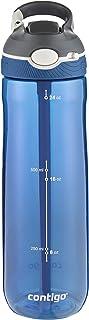 Contigo 水瓶 Ashland 汽车喷嘴 带吸管大型 不含 BPA 塑料水瓶,防漏,适用于运动、自行车、慢跑、远足、720/1200毫升 Monaco 720 ml