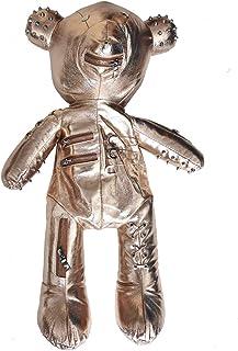 时尚骷髅熊女士背包朋克风格书包设计师背包适合成年女孩