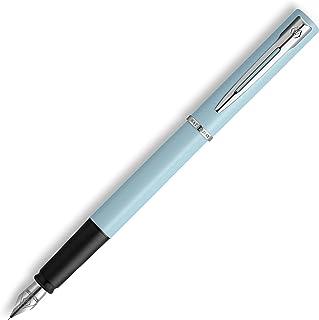 Waterman Allure 钢笔 | 浅蓝色哑光漆镀铬饰边 | 精细不锈钢笔尖 | 蓝色墨水 | 带礼品盒
