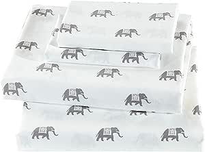 Mk Home Sheet Set 适用于青少年 白色 灰色 大象 全新 Queen Sheet