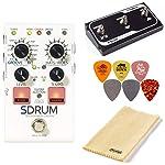 Digitech SDRUM Strummable Drums 踏板套装,配有 FS3X 脚踏开关,抛光布和 6 个 Dunlop 拨片