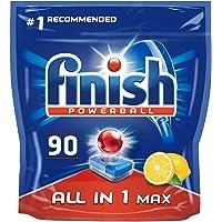 Finish 亮碟 多效合一 柠檬香型 洗碗块(90 块装)。