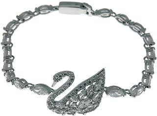 施华洛世奇天鹅湖手链,白色,镀铑,5379947