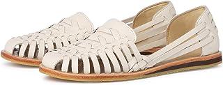 Nisolo 女式厄瓜多尔传统 Huarache 手工编织皮革凉鞋橡胶鞋底