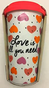 ciroa 双 walled 瓷器陶瓷旅行杯 White, Pink, Orange, Purple, Black 13 Ounces