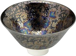 京烧 清水烧 杯(木盒装)黑色 直径8.5厘米 陶庵窑 黑耀虹彩 TOA857