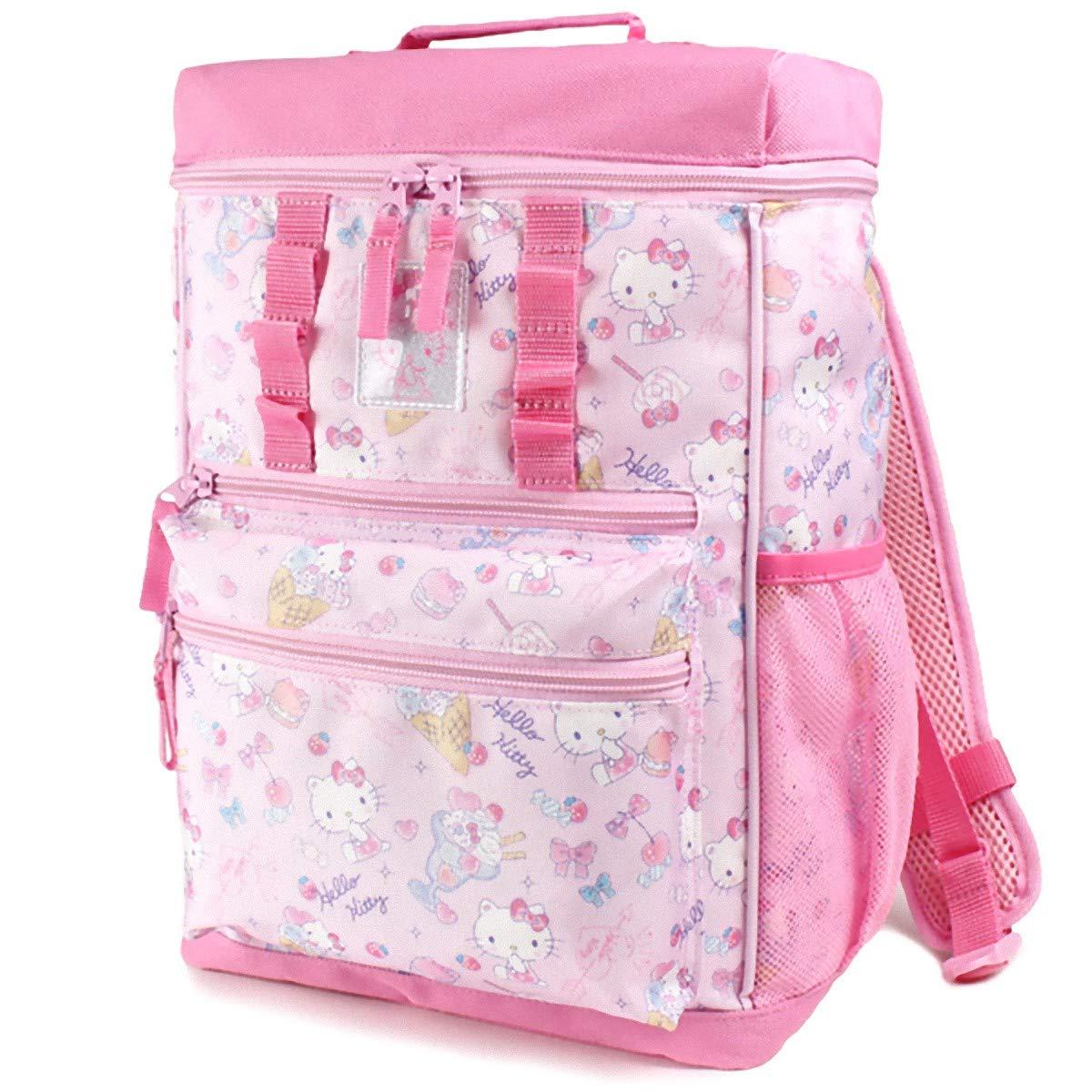HELLO KITTY 多功能双肩包 附带可取出底部物品的装饰袋 儿童 防雨防水罩 085617