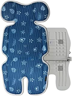 VENTIYO 婴儿车冷却垫,3D网眼坐垫和4个风扇冷却器 - Floral Sea