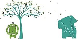 LittleLion Studio 262001074019073000000000 婴儿动物园壁画贴花 Turquoise/Lime Green/Charcoal 262010054063073000000000