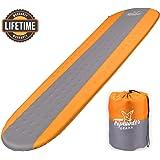 自充气睡垫轻便 - 紧凑泡沫衬垫防水充气垫 - 露营徒步徒步旅行* - 厚 3.81 cm 舒适* - 隔热露营床垫