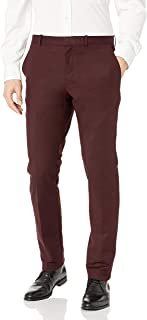 PERRY Ellis 男式修身,弹力缎面长裤