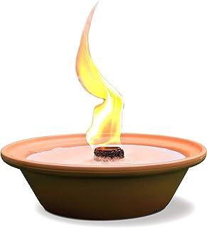 Hyoola 5 小时户外火盆蜡烛 - Terra Cotta 碗无香型大火焰灯芯 - 驱虫和驱蚊效果 - 适用于桌子、庭院、庭院、庭院、野营、户外 桃红色