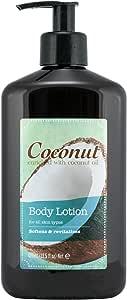 滋养椰子身体乳富含椰子和杏仁油,富含维生素和*剂,适合所有肤质 13.5 液体盎司