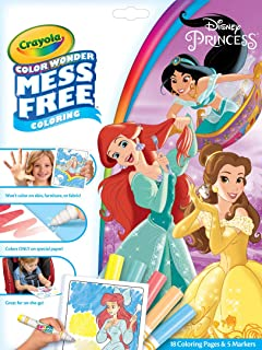 Crayola Color Wonder 着色书页和记号笔,自由着色,送给孩子的礼物 Color Wonder Princess