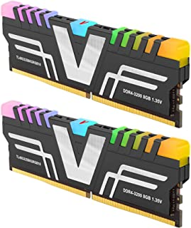 V 色棱镜RGB 8GB (1 x 8GB) DDR4 2666MHz (PC4 21300) CL16 1.2V 台式机内存 -红色(TL48G26S8RGB16) 16GB(8GBx2)