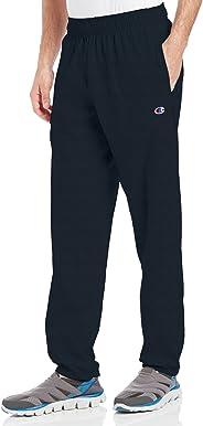 Champion 男士 底部收口轻质针织运动长裤
