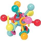 Manhattan Toy 曼哈顿玩具 原子形状摇铃 & 牙胶抓握活动婴儿玩具 4.5 x 4.5 x 3.5 英寸(约 11.4 x 11.4 x 8.9 厘米)