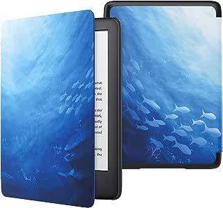 MoKo 保护套适合全新的 Kindle 10 代 2019 版本,*薄的保护外壳自动唤醒/*,不适合 Kindle Paperwhite * 10 代 2018 2-Ocean