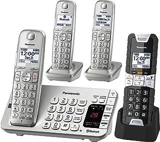 Panasonic KX-TGE484S2 DECT 6.0 4 Handset Landline Telephone 银质