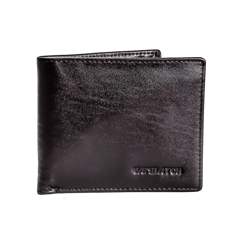vanbatch genuine leather men wallet case purse