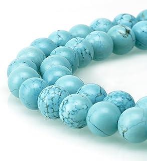 BRCbeads 天然宝石散珠水晶能量石愈合力用于珠宝制作、6、8、10mm 蓝绿色 10mm unknown