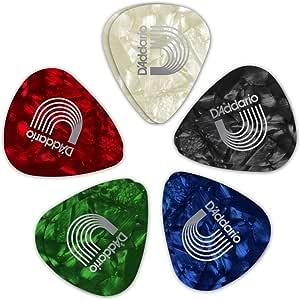 D'Addario 出品的星际波浪 1CAP2-B2S-10 定制混色光野琴吉他拨片,10 个装
