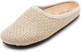 Le Clare Nebraska 男士意大利梭织麻布洞洞鞋带足弓支撑软木鞋垫室内户外鞋底
