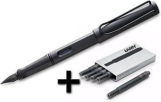 凌美 Safari 钢笔 (17F) 琥珀色 + 5 黑色墨盒