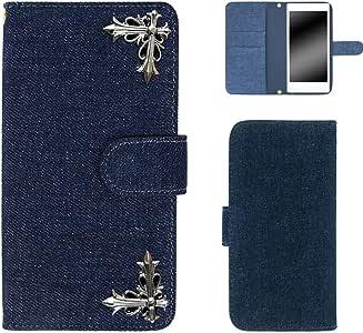 whitenuts 保护壳 手册式 十字 装饰 牛仔布WN-OD264879 8_ Zenfone3 Max ZC553KL 蓝色