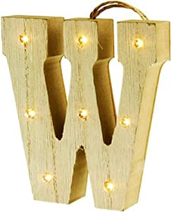 Premier 文具悬挂木制 LED 信件,木制