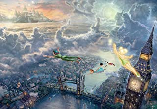 1000片 拼图 Peterpan Tinker Bell and Peter Pan Fly to Never Land 特别艺术收藏 (51x73.5cm)