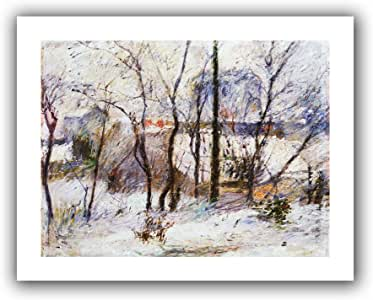 Art Wall 'Garden Under Snow' Unwrapped Canvas Artwork by Paul Gauguin, 28 by 36-Inch