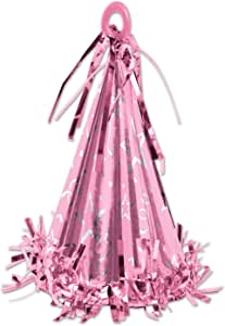 Beistle 50803-P Cone Hat Balloon Weight, 6-Ounce, Pink
