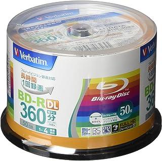 三菱化学媒体 Verbatim 1次刻录用 BD-R DL VBR260YP50V1(日本制造/单面2层/1-4倍速度/50张)