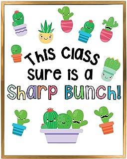 多肉植物主题课堂公告板装饰套装,仙人掌主题欢迎横幅,墙壁或门装饰,随时可用,节省教师大量时间,彩色教室装饰