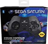 Retro-Bit Official SEGA Saturn Bluetooth Control Pad 黑色 個人電腦/工作站