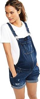 Motherhood 孕妇孕妇 靛蓝 破洞侧幅牛仔短裤