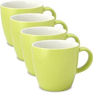 FORLIFE Uni 茶杯带手柄(4 件套) 莱姆绿 11 oz. 550-LME-4