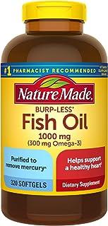 Nature Made 防打嗝 1000毫克鱼油软胶囊,320粒(包装可能会有所不同)