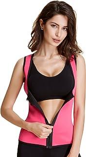 女式运动乳胶腰部训练紧身胸衣沙漏背心塑身衣*燃烧器