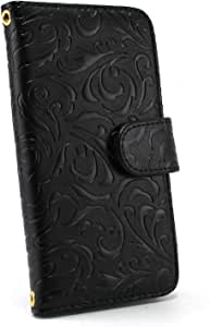 白色边框手机保护壳翻盖式 トライバルエンボス  黑 21_ PANTONE 6 200SH
