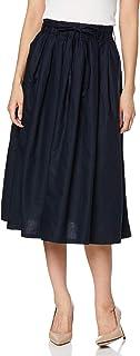 Cecile 长裙 亚麻棉 褶皱裙 带腰带 女士