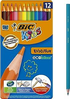 BIC KIDS EVOLUTION Ecolutions 彩笔 Case of 12