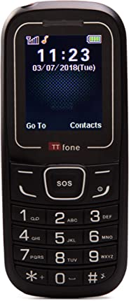 TTfone TT110 SOS 应急手机 - 基本简单便宜的高级手机TT110R-MC with Mains Charger 红色